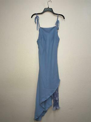 1*39 Cult Gaia BlueBell Giselle Tie Hem Stretch Silk Slipdress Women's Size M