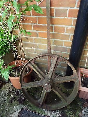 Antique French Cast Iron Wheel Garden Architectural Salvage Ornament Display