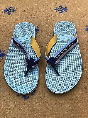 Louis Vuitton Men's Sandals Thongs Canvas Flip Flop UK 9 US 10 EU 43 Shoes