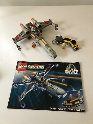 Lego Star Wars X-Wing fighter set 7140 complete w/ manual & minifigures