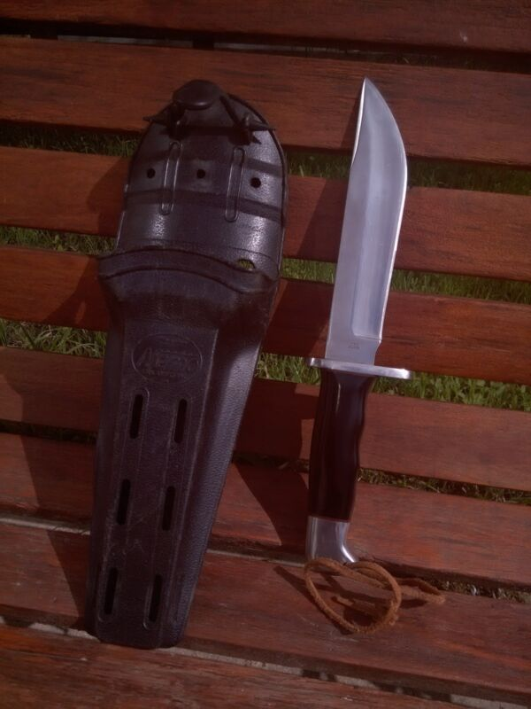 rare vintage Buck 122 Nemo Knife-brown spacers- original sheath!!