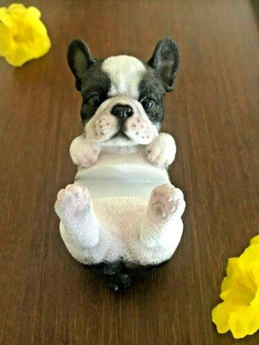 "VI N VI 4"" Phone Holder - Lying French Bulldog Figurine"