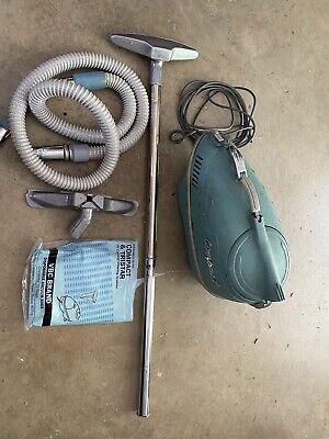 Vintage 1961 Vacuum Cleaner Interstate Engineering Revelation C-4 Teal Very RARE
