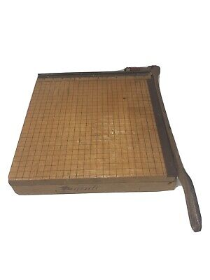 Vtg Ingento Cutting Board Paper Cutter 1132 With 12 Blade And Cast Iron Handle
