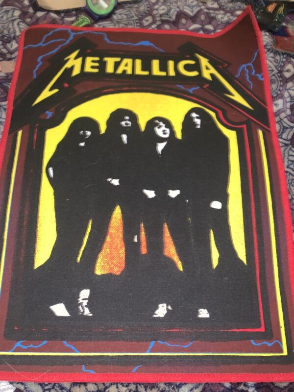 """Unused 1990s Metallica With Cliff Burton Rare 10"""" by 12""""  Back Patch Made In UK"""