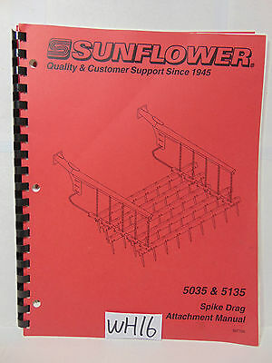 Sunflower Book Operator-part Manual Three Section Field Cultivator 5035-5135
