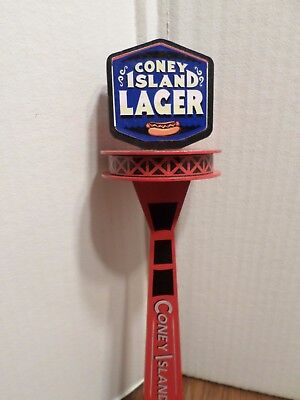 "Coney Island Lager Hot Dog Tower 13"" Draft Beer Keg Tap Handle Shift Knob"