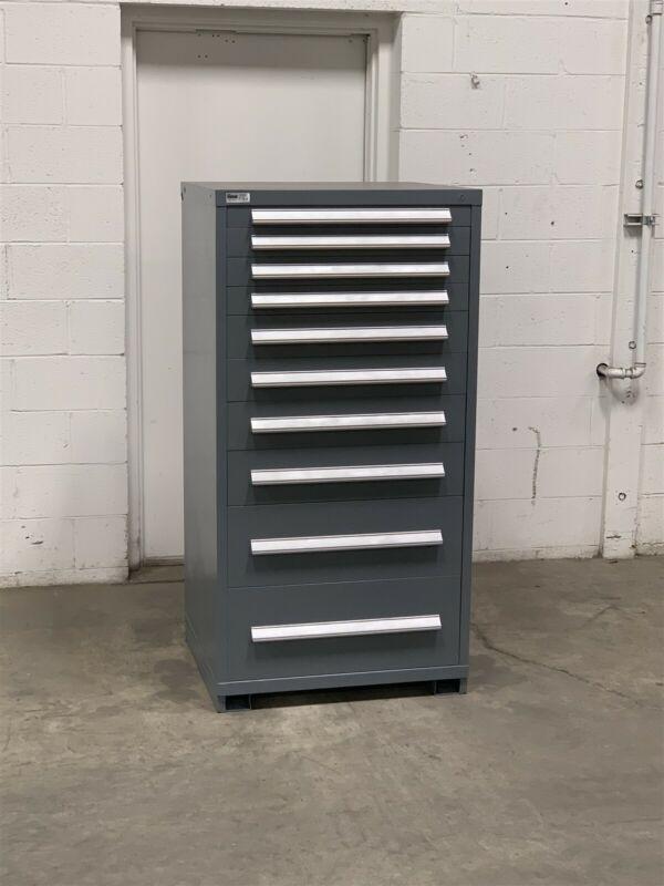 Used Stanley Vidmar 10 drawer cabinet industrial tool part storage #222