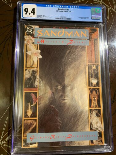 Sandman #1 CGC 9.4 White Pages 1st Morpheus DC Vertigo
