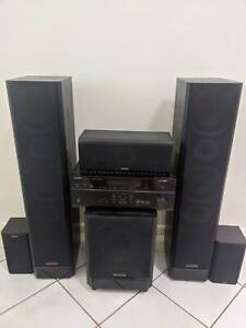 Yamaha HTR-6066 Amplifier and Accusound OM 1050 Speakers