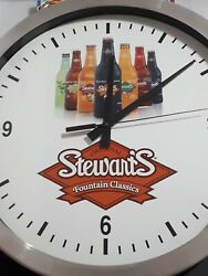 Original Stewarts Fountain Classic cola Promotional Advertising Wall Clock Signs