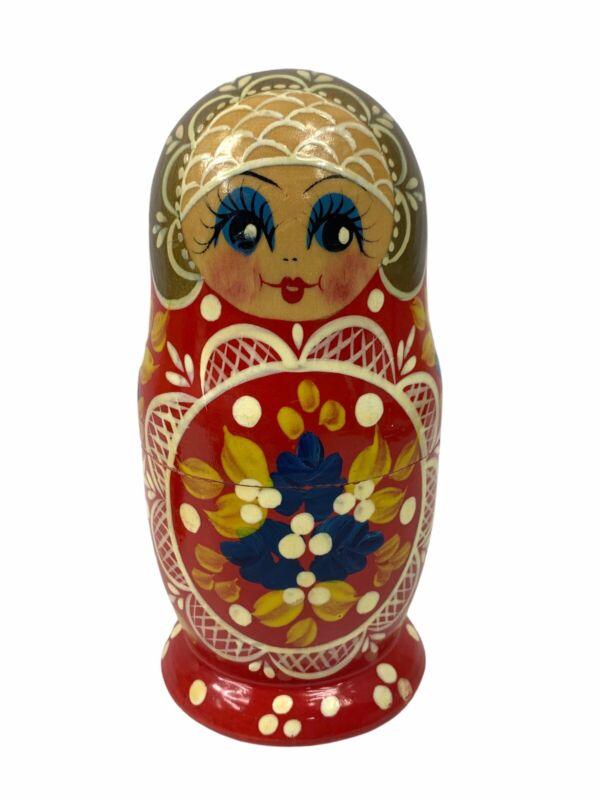 Vintage 4 Piece Matryoshka Russian Nesting Dolls