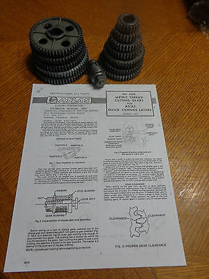Atlas 6818 Metric Thread Gears All Parts For 1012 Atlas Craftsman Qc Lathes