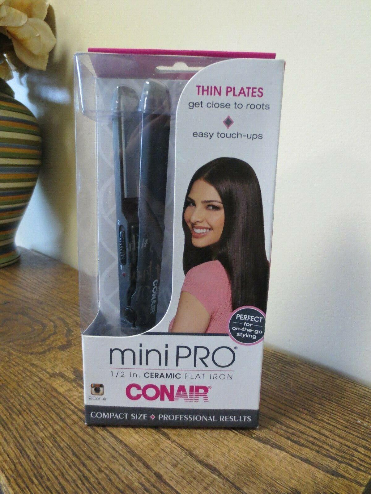 Conair MiniPro Ceramic Straightener, 1/2 inch -- 1 each.