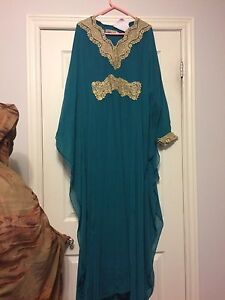 Gold and Aqua Quality Gown