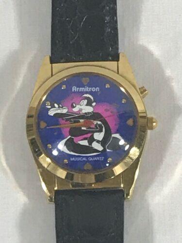 Vintage Pepe Le Pew Armitron Musical Quartz Watch