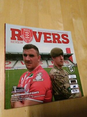2014 HULL KINGSTON ROVERS HKR  V HUDDERSFIELD GIANTS - RUGBY LEAGUE SUPER