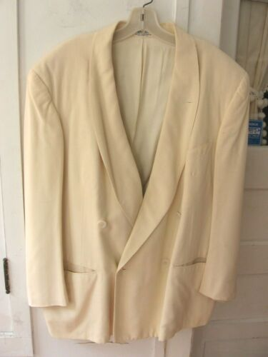 VINTAGE IVORY AFTER SIX  BY RUDOFKER DOUBLE BREASTED DINNER TUXEDO JACKET