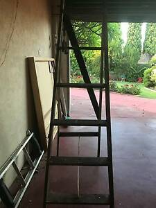 Rustic Wooden Tall Ladder Salter Point South Perth Area Preview