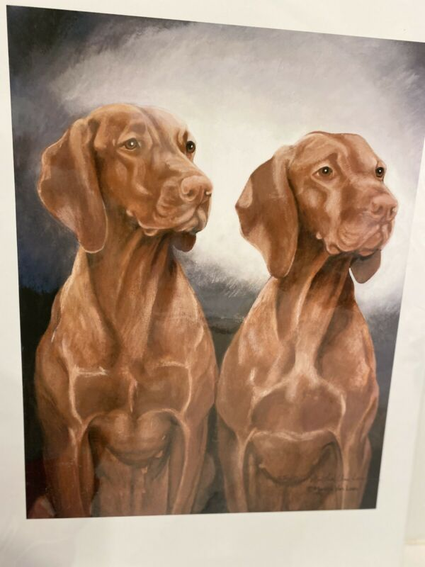 Vizsla Ltd Ed Signed 11x14 Print By Van Loan