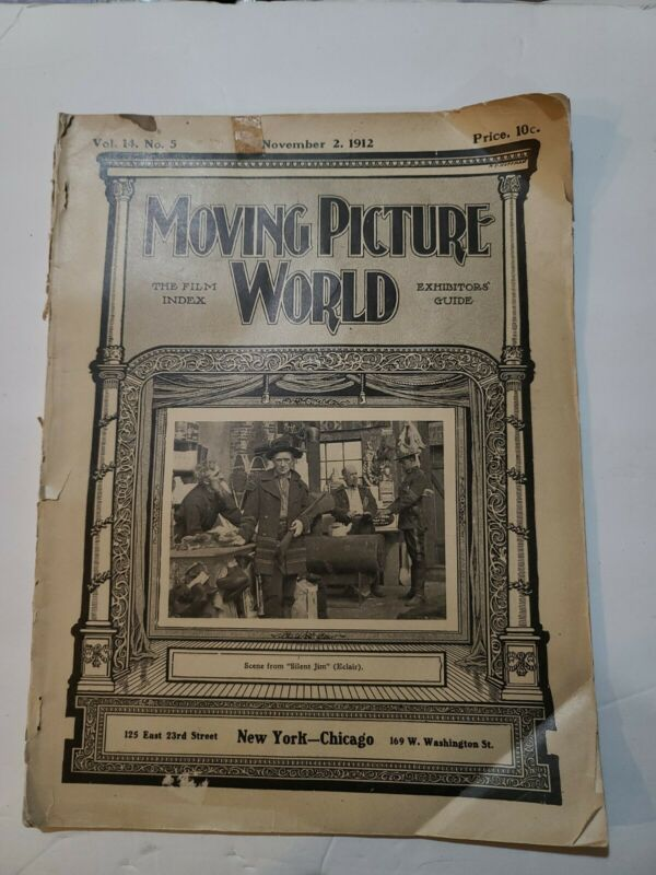 MOVING PICTURE WORLD ECLAIR STUDIO EDISON KINETOSCOPE MABEL NORMAND 1912