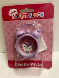 Hello Kitty Twin Bells petite purple Alarm Clock Battery Powered