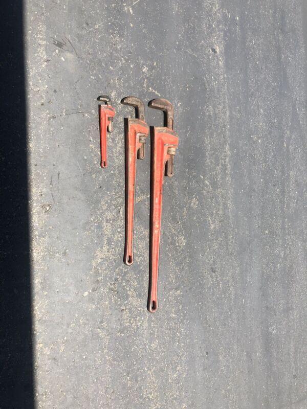 """Ridgid pipe wrench set 48"""", 36"""", 14"""""""