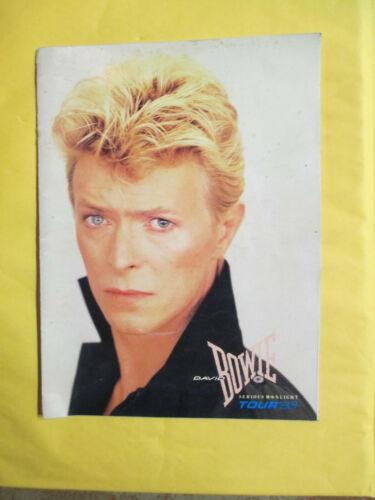 DAVID BOWIE SERIOUS MOONLIGHT TOUR 1983 CONCERT PROGRAM