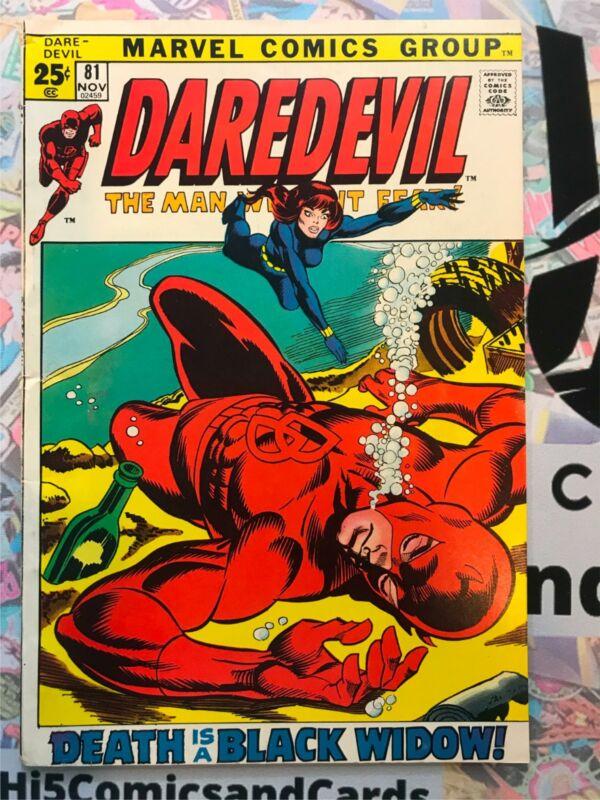 Daredevil 81 F-, Black Widow, 1971 Marvel Comics