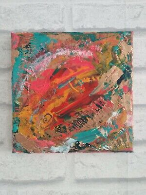 ORIGINAL ABSTRACT PAINTING by Laura Hall, Acrylic on Canvas, 20 x 20 cms