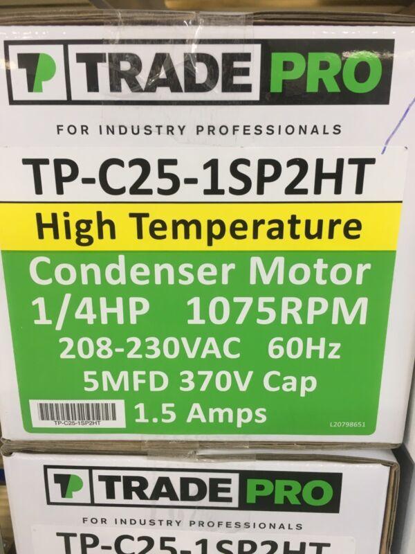 Tradepro TP-C25-1SP2HT 1/4hp 208/230v 1075rpm Condenser Fan Motor .