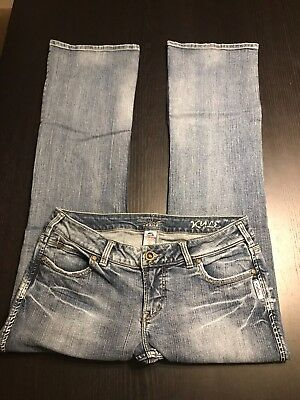 Silver Jeans Womens Kyle Low rise Bootcut Medium Wash Size 31/33 ~ 31x31