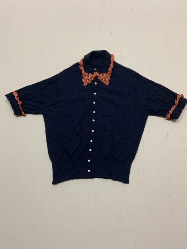 1950's Beaded Cashmere Perfecf Sweater Medium VINTAGE