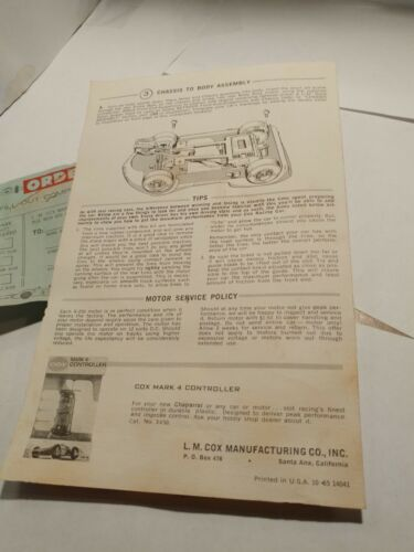 1960s Cox 1/24 Chaparral Sidewinder Model Racer Jim Hall Slot Car |  Shopping Bin - Search eBay faster