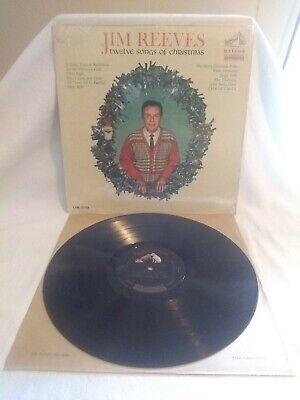 Jim Reeves Twelve Songs Of Christmas RCA Dynagroove LPM 2758 VG+/VG+ Holiday LP Jim Reeves Songs