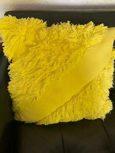 Yellow Country Road shag cushion