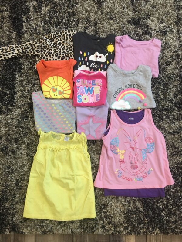 Lot Of 10 Girls 4T Toddler Shirts Mixed Brands