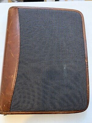 Franklin Covey Riverwood Propex 7 Ring Binder Planner Leather Trim. Pre-owned