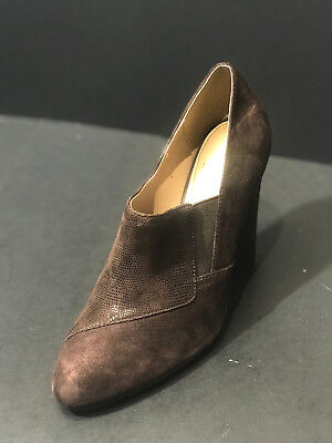 New Isola Coffee Brown Tawen High Heel Leather Upper Shoes Size US 8.5 M  (New Brown High Heel)
