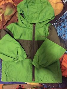 Columbia boys toddle rain jacket