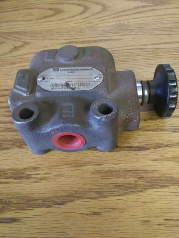 Commercial Intertech S-50 Hydraulic Selector Valve,3 Way 503-1