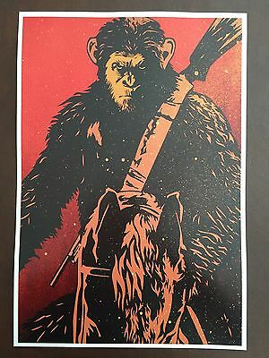 War For The Planet Of The Apes AMC RealD 3D ExcluisveTriple Feature 13x19 Poster