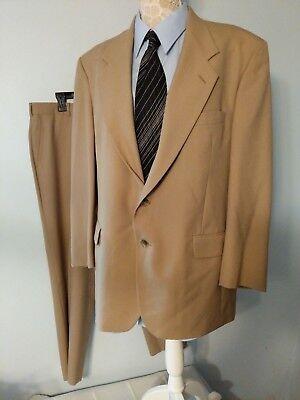 John Alexander Suit Size 43r Jacket 38x 29 Pants Beige Exc