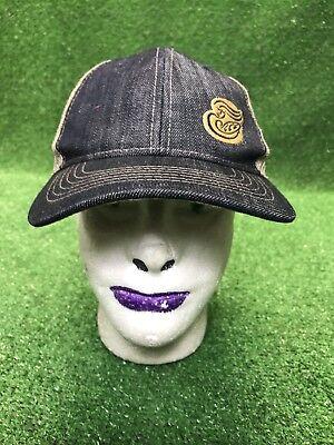 Panera St  Louis Bread Company Trucker Blue Denim Baseball Cap Hat Mens Osfa