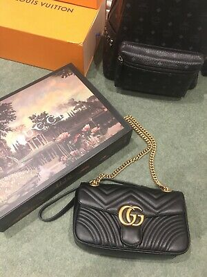 Gucci Marmont Bag Black (Small) With Box, Great Condition Authentic