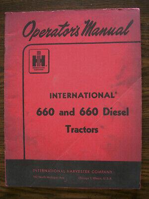 Ih Farmall Mccormick International 660 Owners Manual