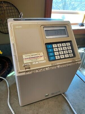 Amano Microder Mjr7000 Digitial Computerized Employee Time Card Punch Clock