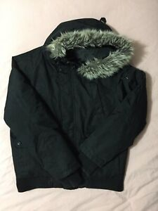 Bluenotes mens winter coat/jacket with faux fur hood XL