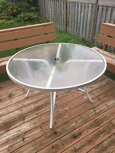 Glass patio table for sale