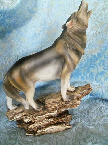 "Large Lobo Wolf Figurine Statue 13"""